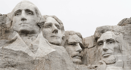 All four presidents whose sculpted faces adorn Mt. Rushmore were products of home-school education.