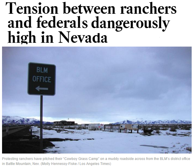 tension between ranchers and federal officials dangerously high in nevada