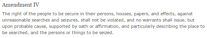 fourth amendment text