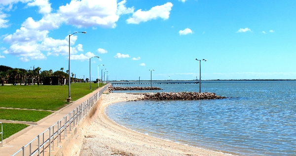 palacios sea wall near pavilion
