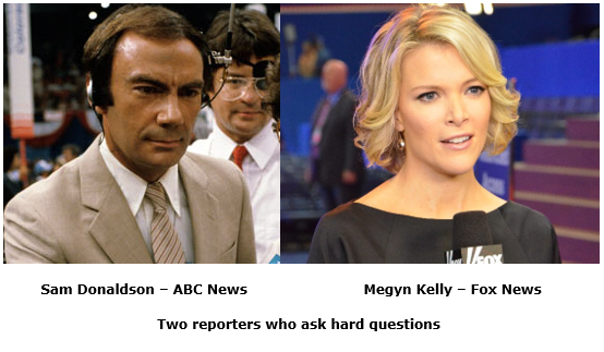sam donaldson and megyn kelly - asking the hard questions