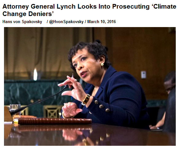 loretta lynch prosecute climate change deniers.png