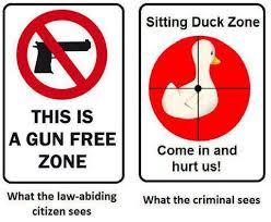 gun free zone invitation to criminals