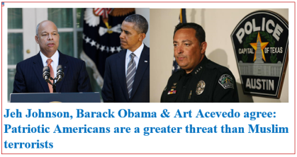 jeh johnson - barack obama - art acevedo say patriotic americans greater threat than muslim terrorists