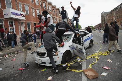 baltimore riot scene