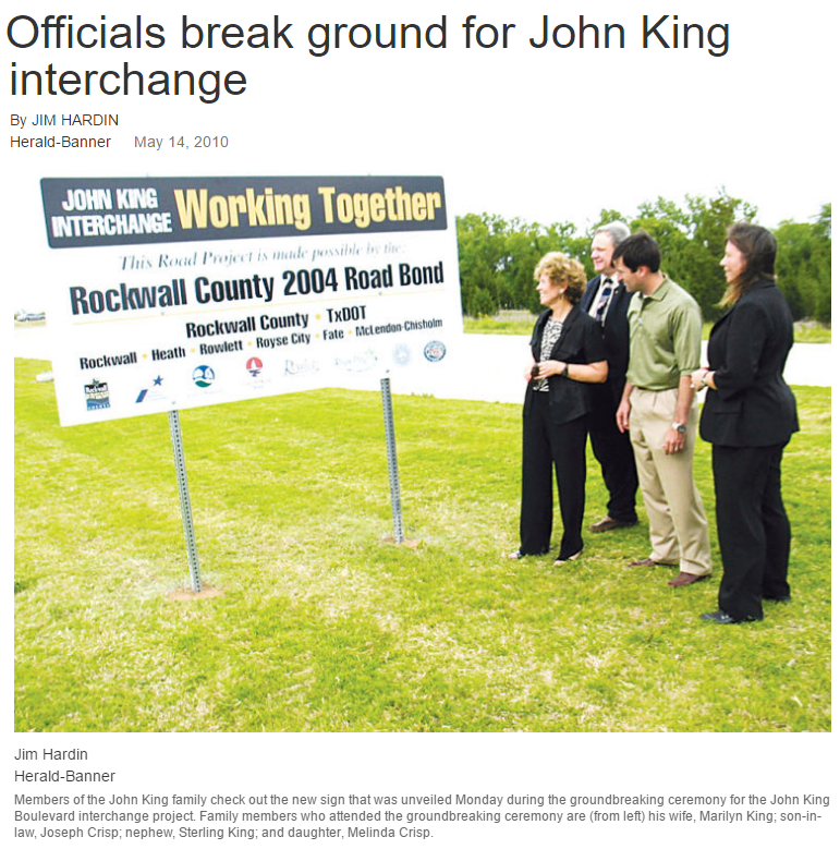 Herald Banner John King Ground Breaking 2010.png