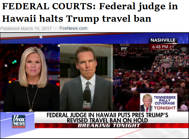 federal judge in Hawaii halts Trump travel ban