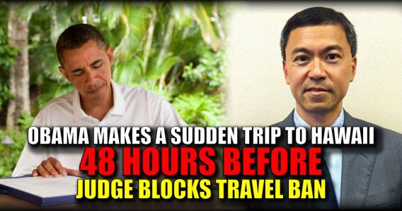 obama makes trip to hawaii 48 hours before judge blocks travel ban