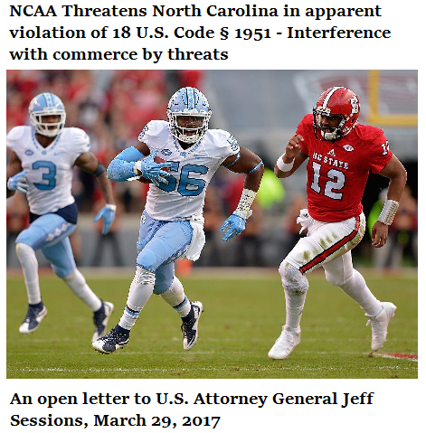 open letter to Jeff Sessions regarding NCAA threat to withhold interstate commerce from North Carolina.png