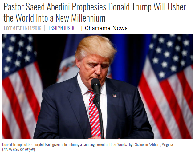 Pastor Saeed Abedini Prophesies Donald Trump Will Usher the World Into a New Millennium