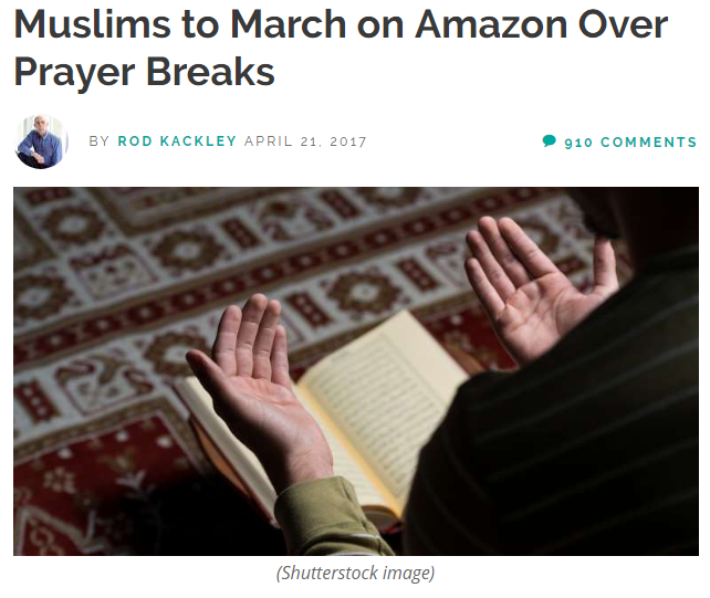 Muslims March on Amazon Over Prayer Breaks.PNG