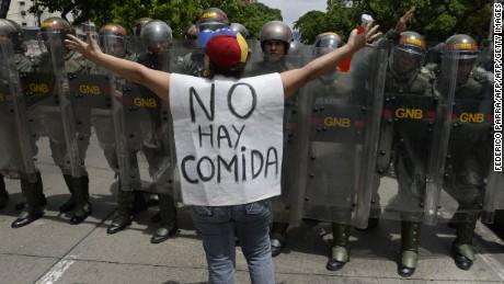 no hay comida en Venezuela