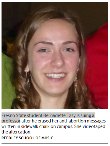 Fresno State Student Bernadette Tasy sues Professor Gregory Thatcher