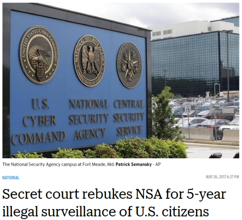 secret court rebukes NSA for 5-year illegal surveillance of US citizens