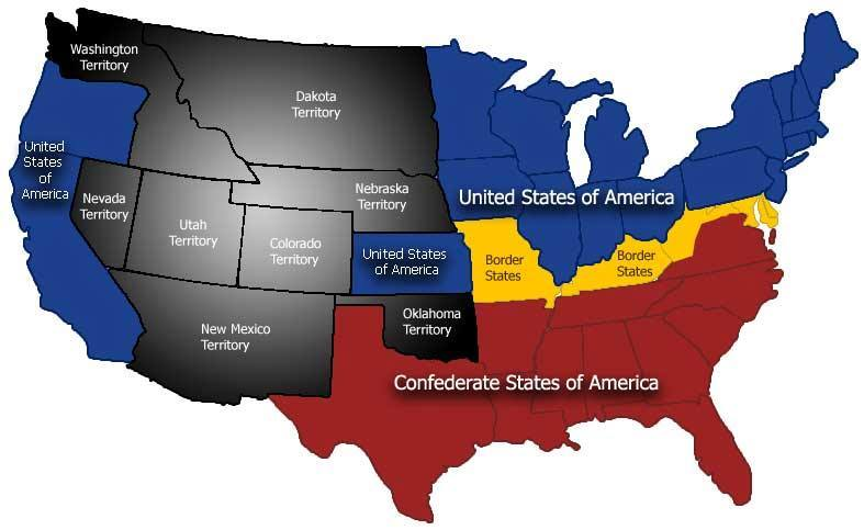 Confederate States Map