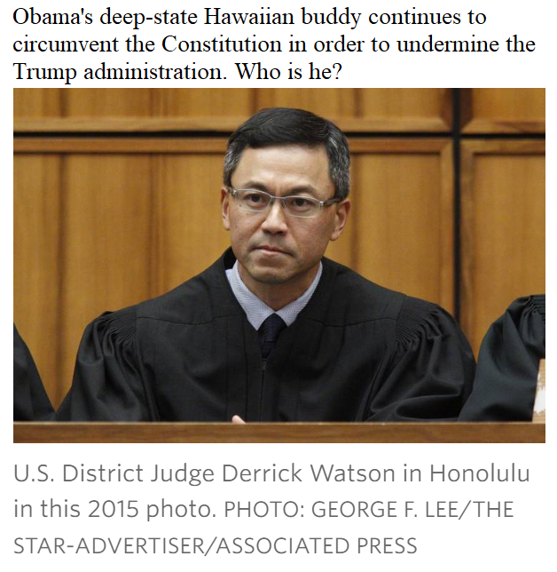 us district judge derrick watson