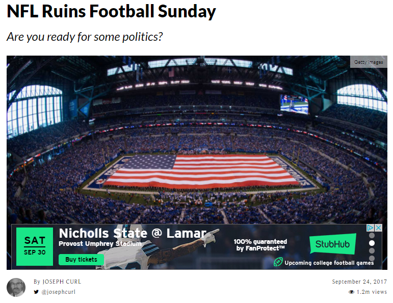 nfl politics ruins football sundays