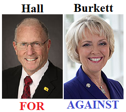 BOB HALL FOR - CINDY BURKETT AGAINST
