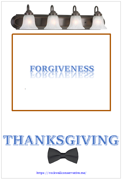 forgiveness is a reflection of thanksgiving