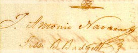 Navarro signature on Texas Declaration of Independence
