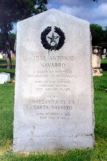 tombstone of jose antonio navarro