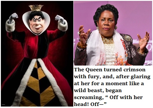 queen sheila pulls the race card and says off with her head