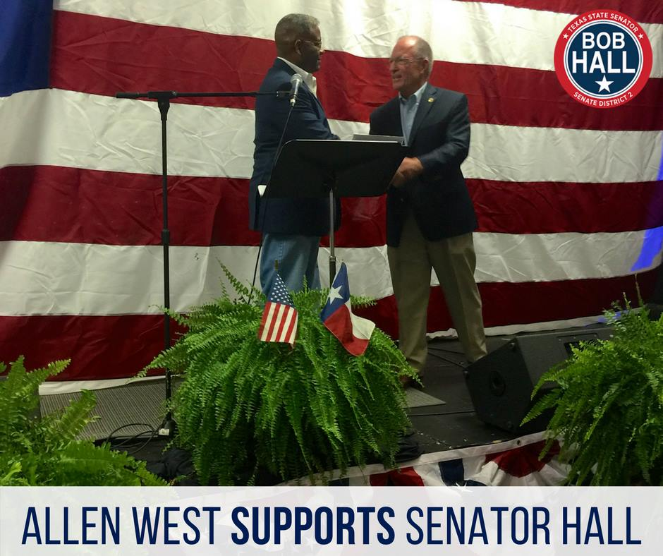 Allen West supports Bob Hall - Photo