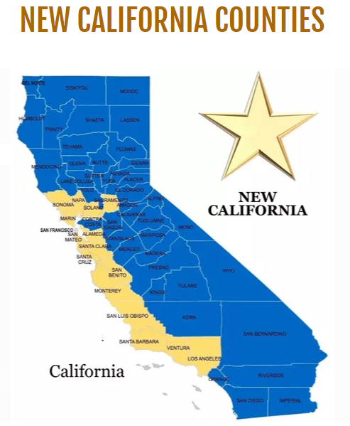 map of new california