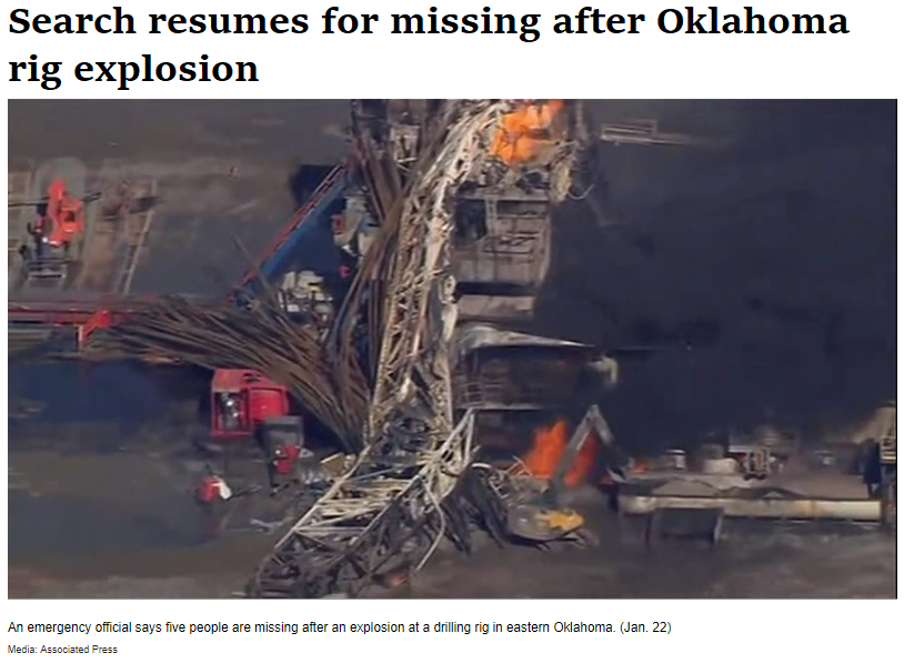 Rig Fire Kills Five in Oklahoma - Houston Chronicle