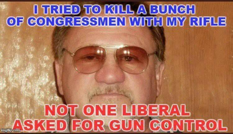 when this democrat shot republican lawmakers no liberal called for gun control