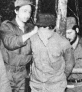 Raul Castro ties blindfolds to his murder victims