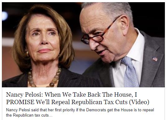 Nancy Pelosi will repeal all the tax cuts