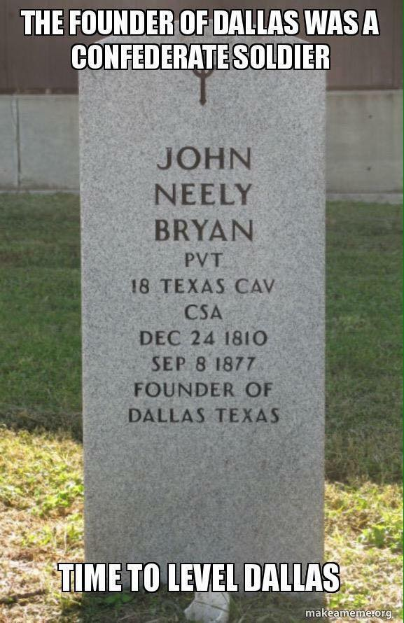 dallas named for a confederate soldier