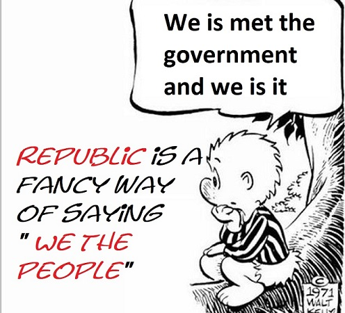 We is met the government and we is it