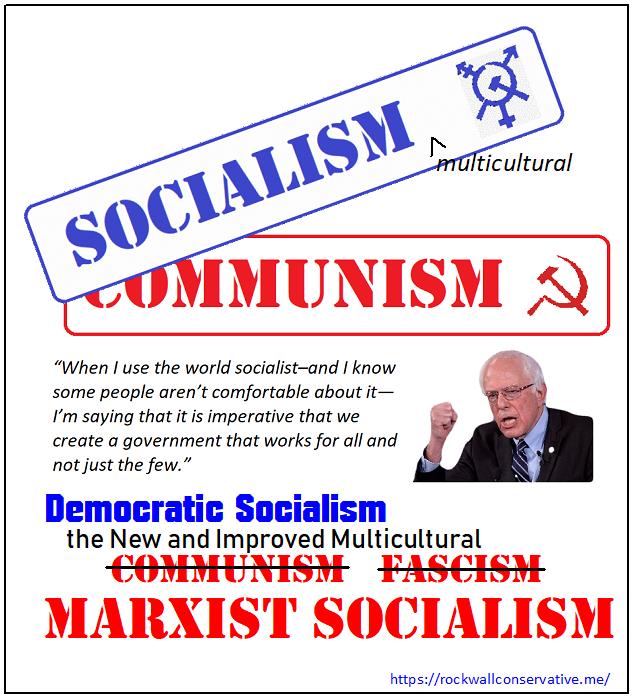 Bernie Sanders NEW Multicultural Socialism is the old Communism