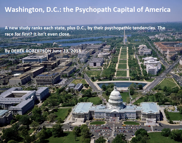washington dc the psychopath capital of america