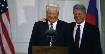 bill clinton meets with boris yeltsin