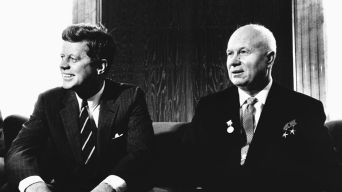 jfk meets with Nikita Khrushchev in Helsinki