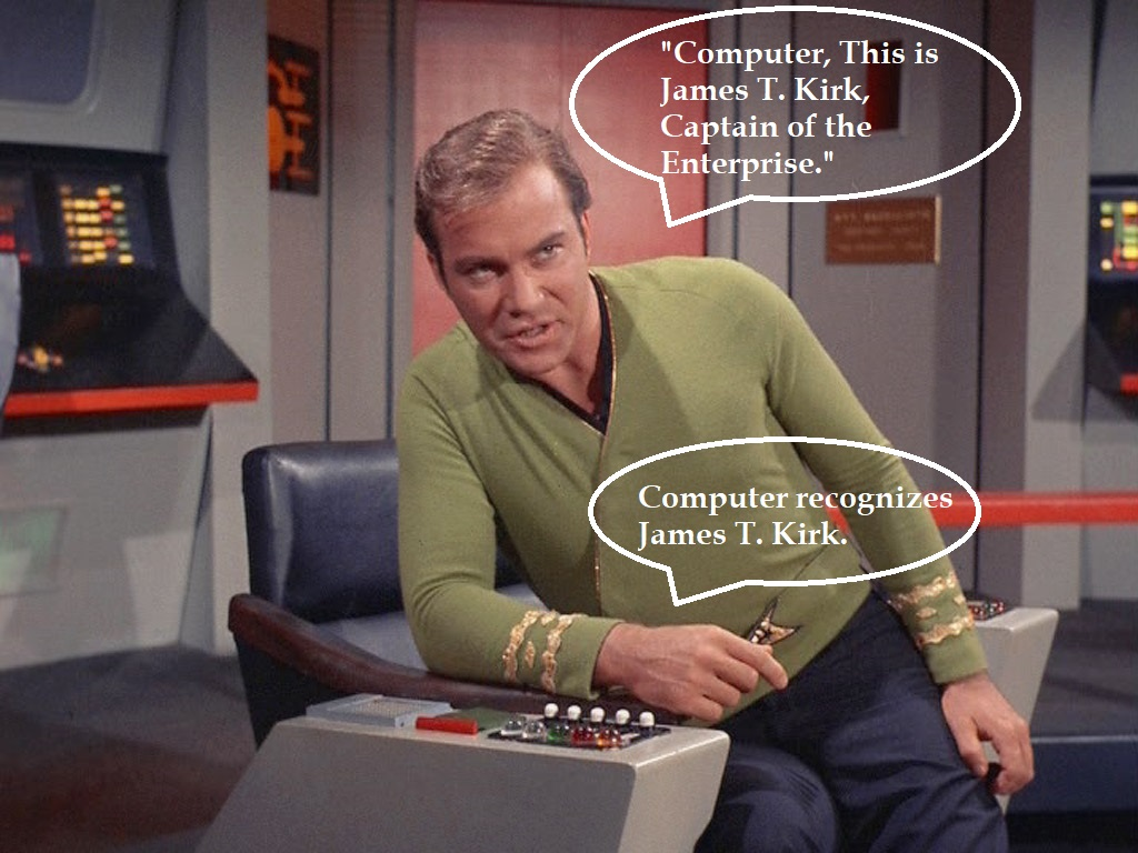 kirk talking with computer