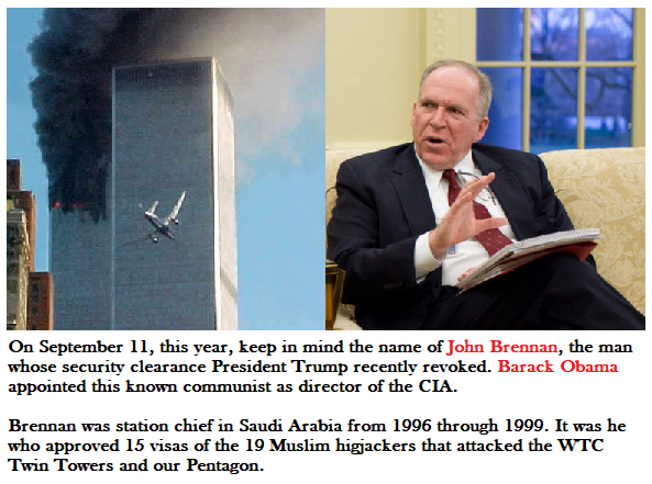 john brennan facilitated 911 hijackers