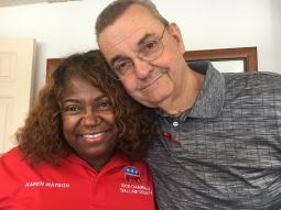 Karen Watson and JW at Dallas GOP HQ