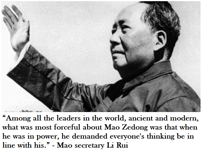 mao demanded everyones thinking be in line with his