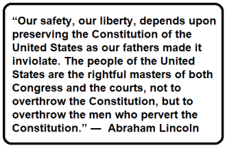 The people of the United States are the rightful masters of both Congress and the courts