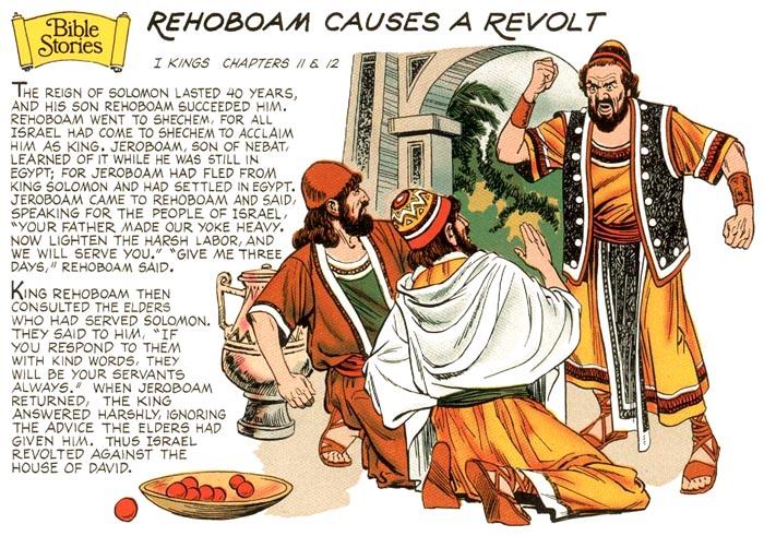 Rehoboam Causes a Revolt