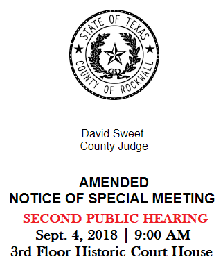 SECOND PUBLIC HEARING