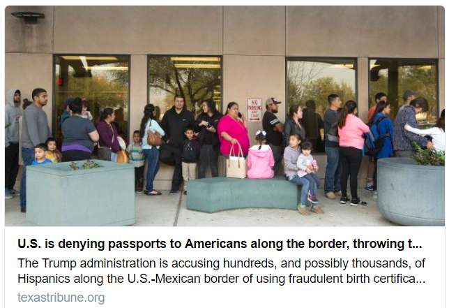us is denying passports to mexicans with suspicious passports
