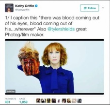 Kathy Griffin made a beheading video of President Trump
